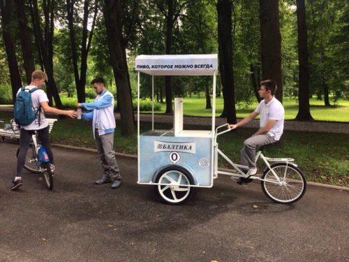 Продвижение бренда на велорикше